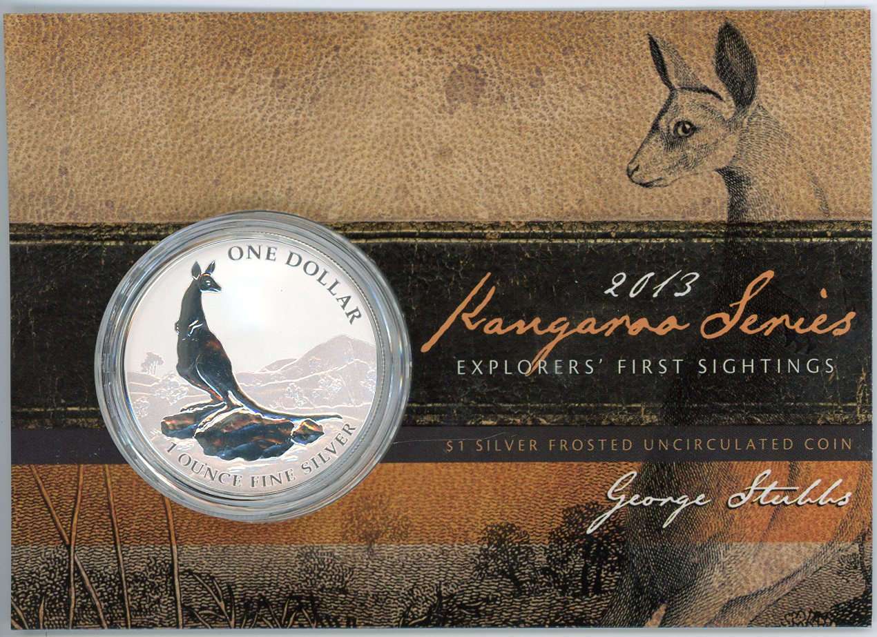 Thumbnail for 2013 $1 Silver Frosted Coin Kangaroo Series - Explorer's First Sightings