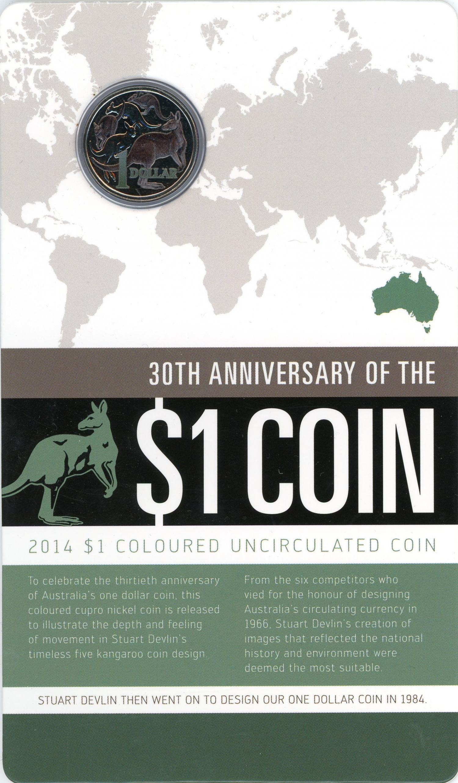 Thumbnail for 2014 30th Anniversary of the $1 Coin - Coloured Edition