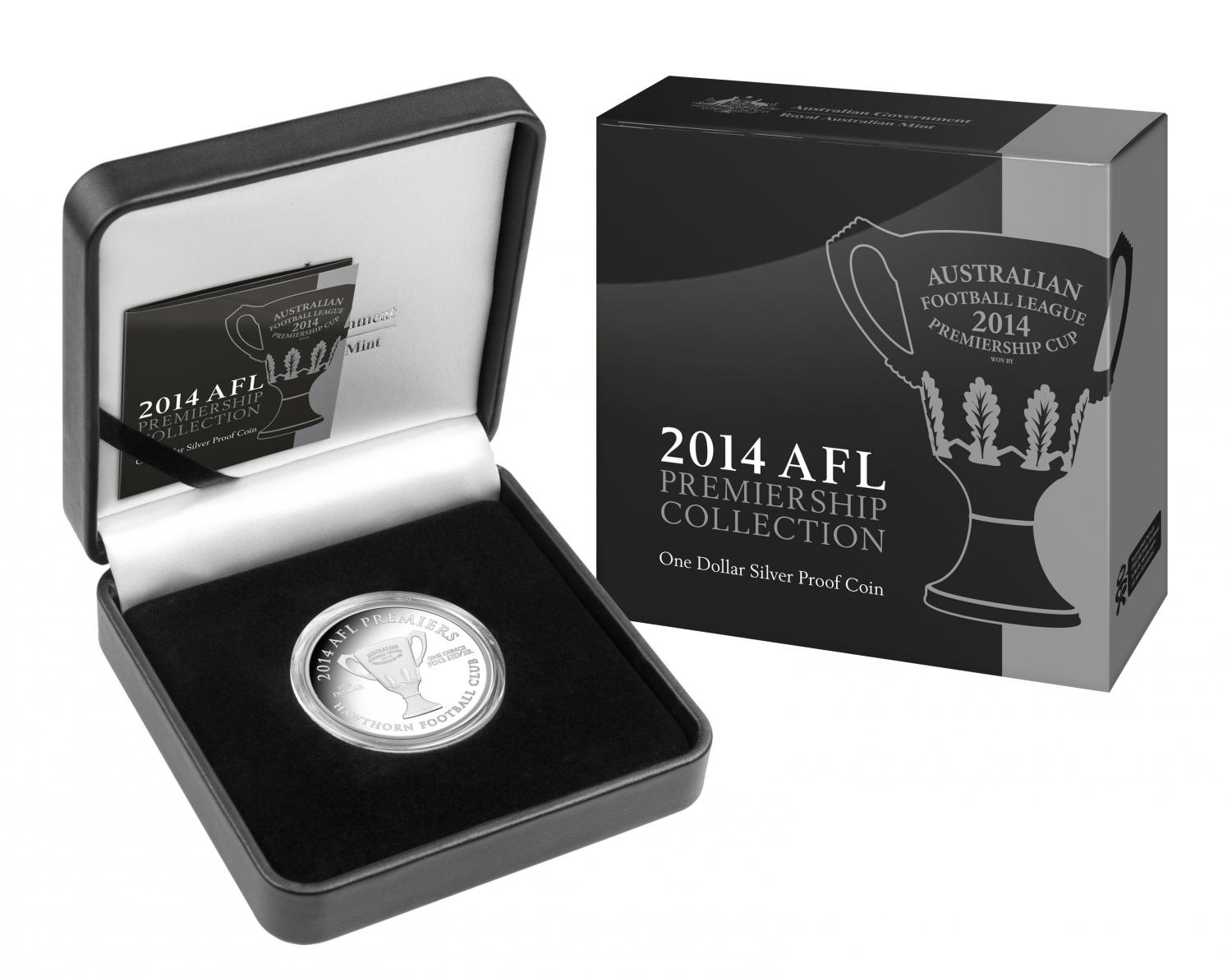 Thumbnail for 2014 AFL Premiership Cup 1oz One Dollar Silver Proof Coin