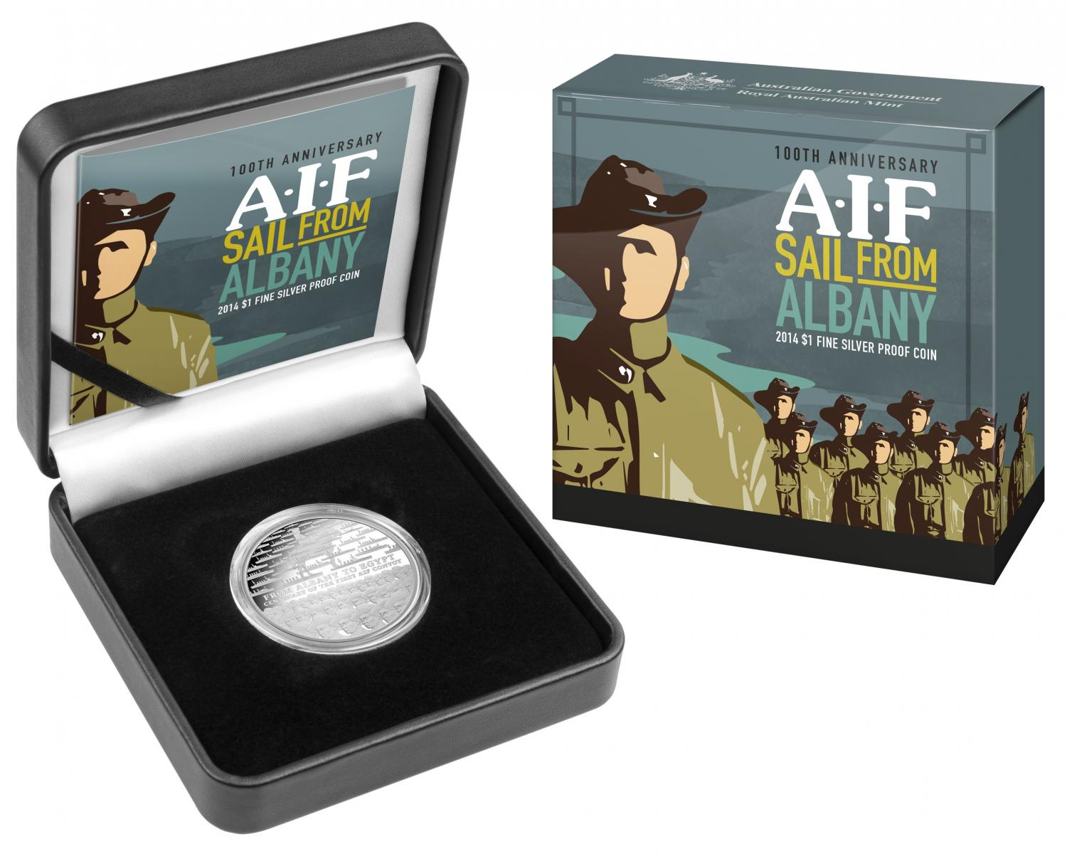 Thumbnail for 2014 100th Anniversary A.I.F Sail from Albany $1.00 1oz Silver Proof Coin
