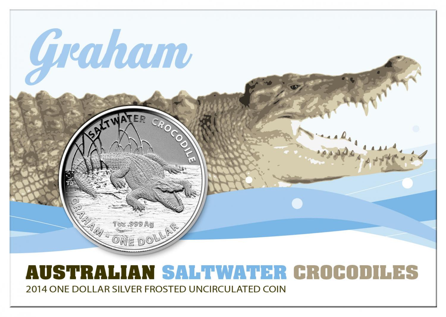 Thumbnail for 2014 $1 Silver Frosted Coin - Australian Saltwater Crocodiles Graham