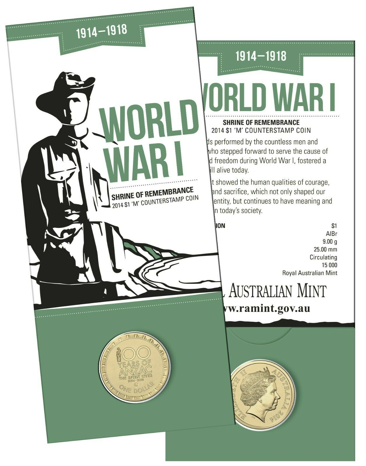 Thumbnail for 2014 Australia 100 Years of WWI $1.00 with
