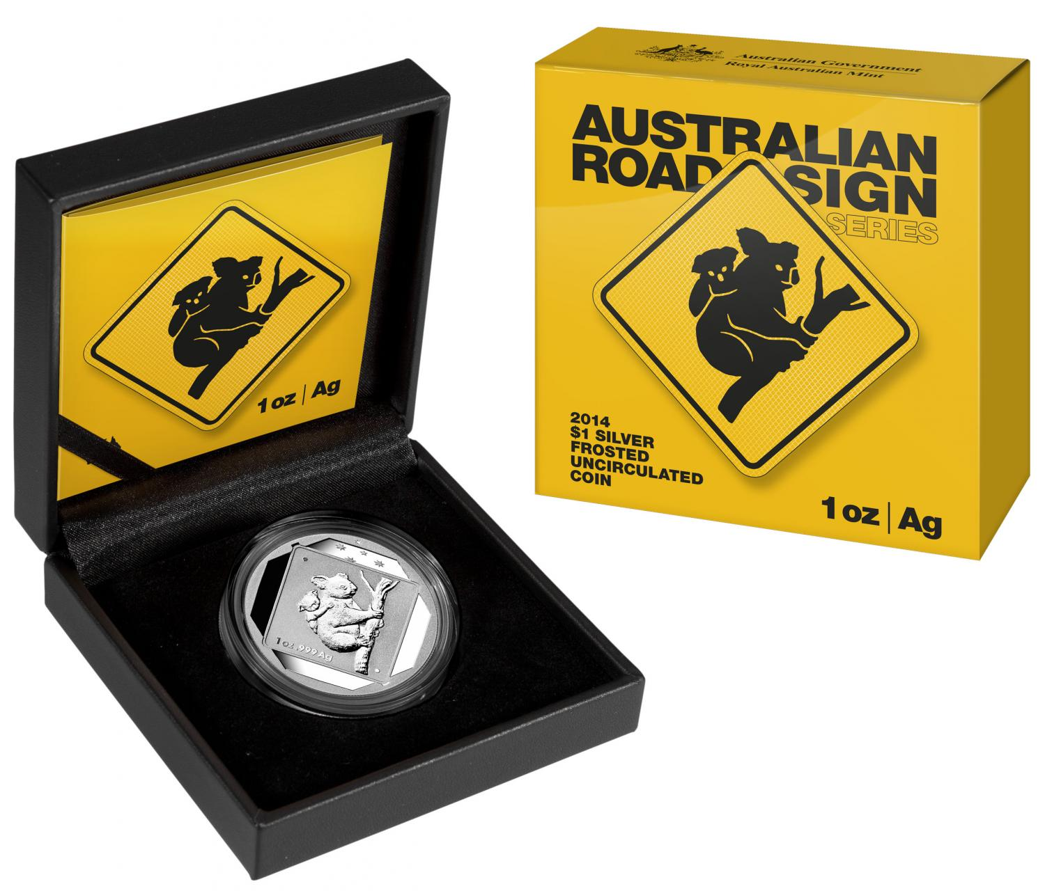 Thumbnail for 2014 1oz Silver Road Sign Series - Koala