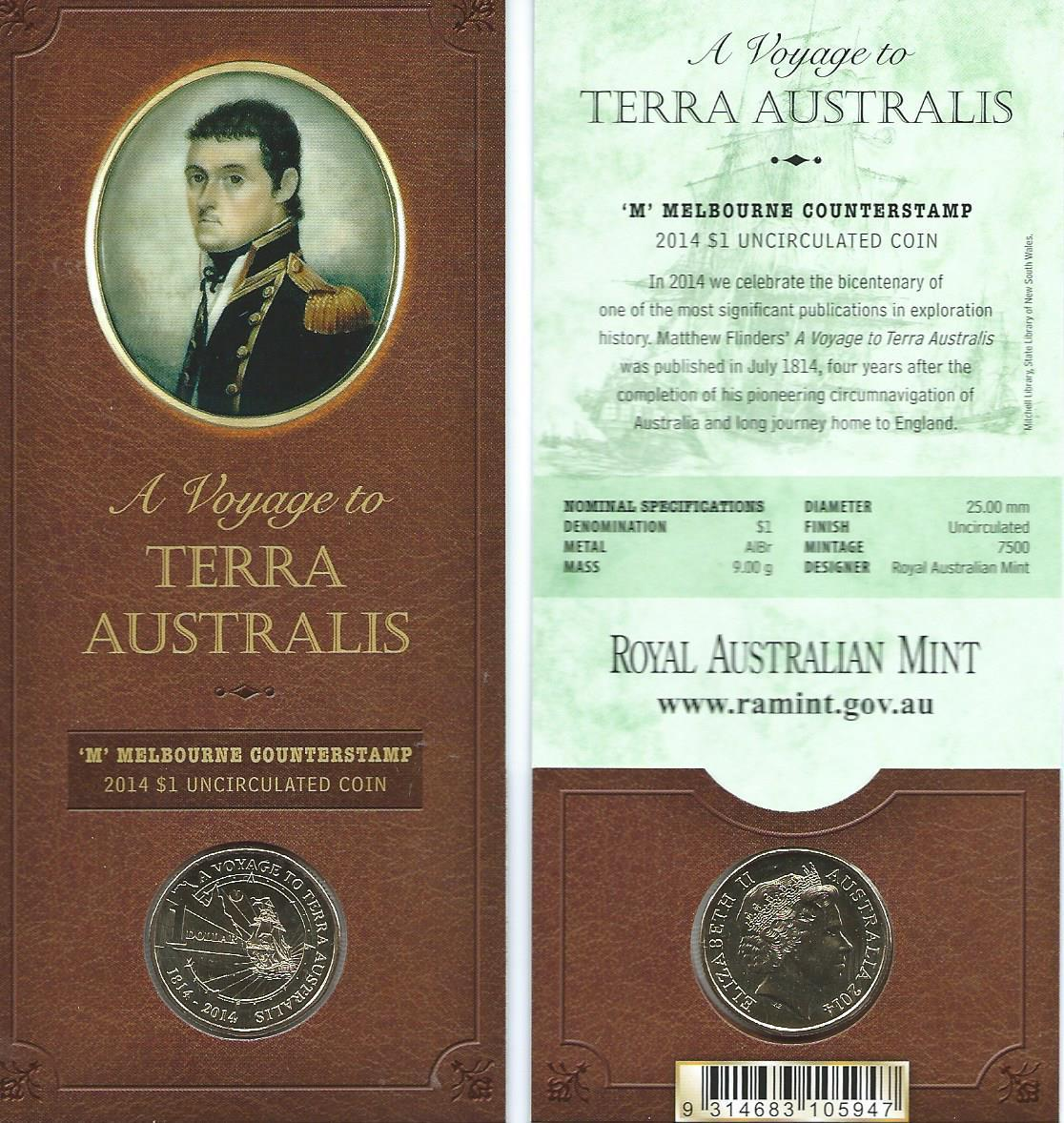 Thumbnail for 2014 Terra Australis Melbourne Counterstamp $1.00 on Card
