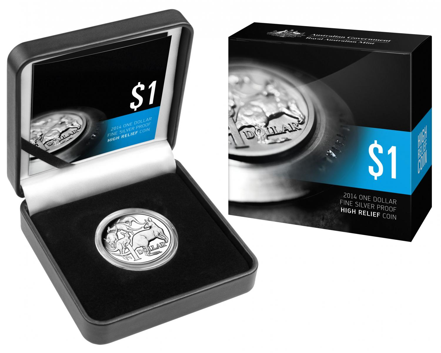 Thumbnail for 2014 One Dollar 1oz Silver Proof High Relief Coin - 30th Anniversary of the Dollar Coin