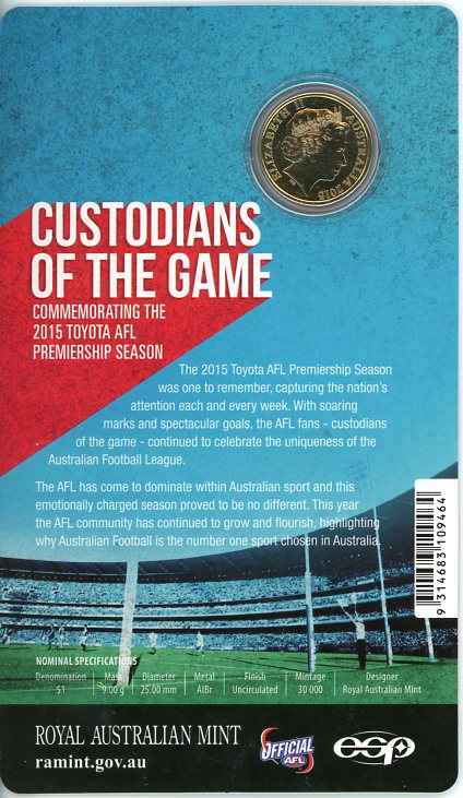Thumbnail for 2015 AFL Custodians of the Game