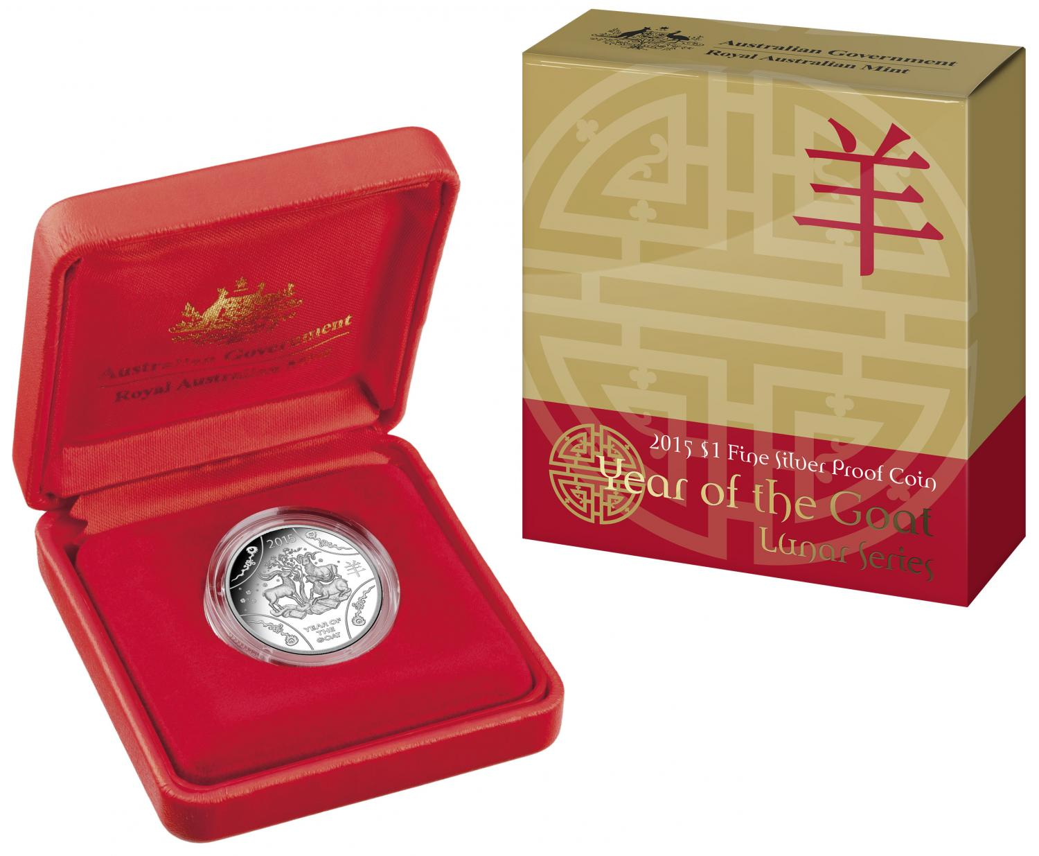 Thumbnail for 2015 Lunar Series - Year of the Goat $1 Silver Proof Coin