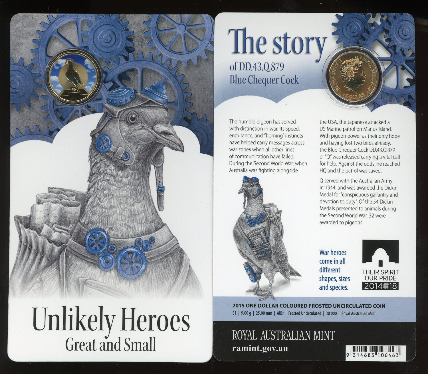 Thumbnail for 2015 Unlikely Heroes - Blue Chequer Cock