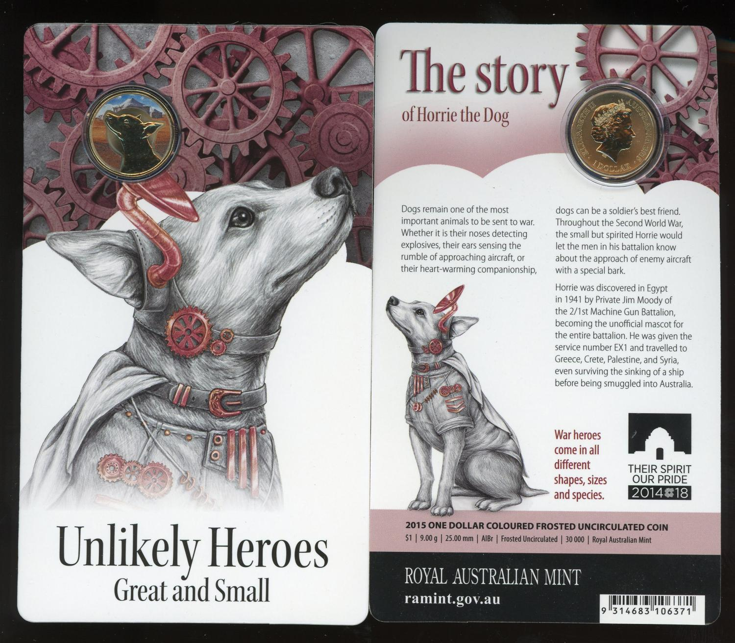 Thumbnail for 2015 Unlikely Heroes - Horrie the Dog