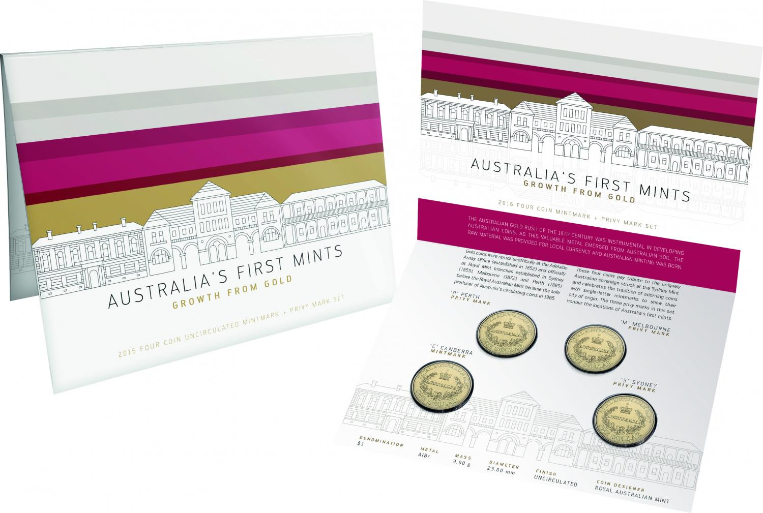 Thumbnail for 2016 Australia's First Mints 4 Coin Privy Mark Set CPMS