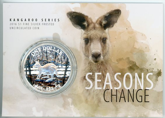 Thumbnail for 2016 Kangaroo Series - Seasons Change - $1 Fine Silver Coin UNC