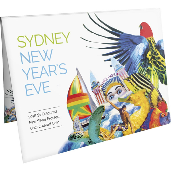 Thumbnail for 2016 Sydney New Years Eve Coloured Fine Silver Coin