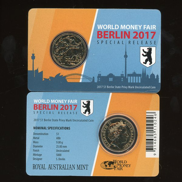 Thumbnail for 2017 Mob of Roos Berlin Fair Berlin State Privy Mark