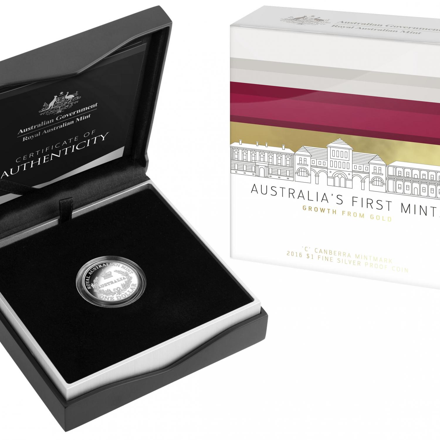 Thumbnail for 2016 $1 Silver Proof - Australia's First Mints