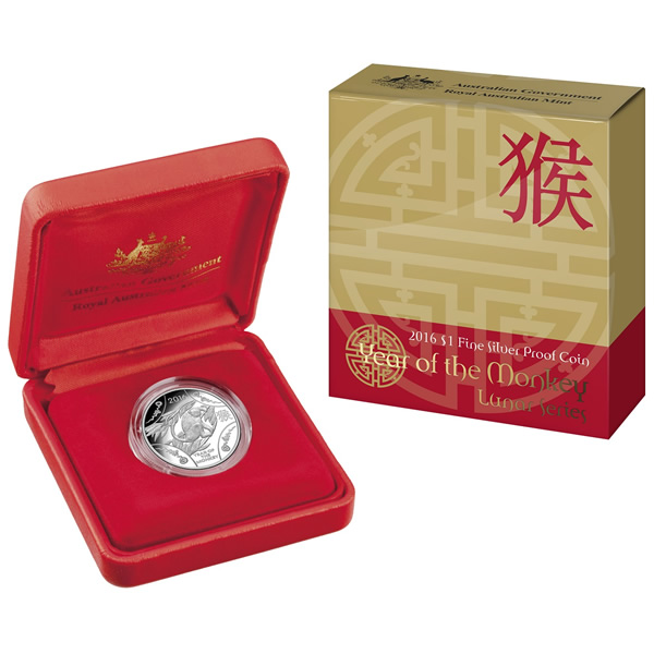 Thumbnail for 2016 Lunar Year of the Monkey Fine Silver Proof Coin