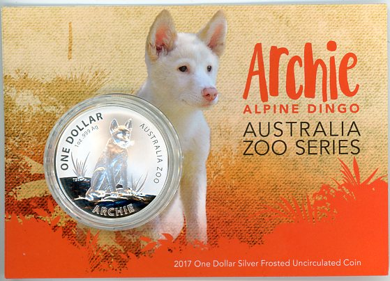 Thumbnail for 2017 1oz Zoo Series - Archie Alpine Dingo