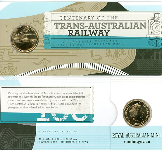 Thumbnail for 2017 Centenary of the Trans-Australian Railway C Mintmark