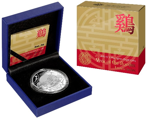 Thumbnail for 2017 Lunar Series - 1oz Year of the Rooster $1 Silver Proof Coin