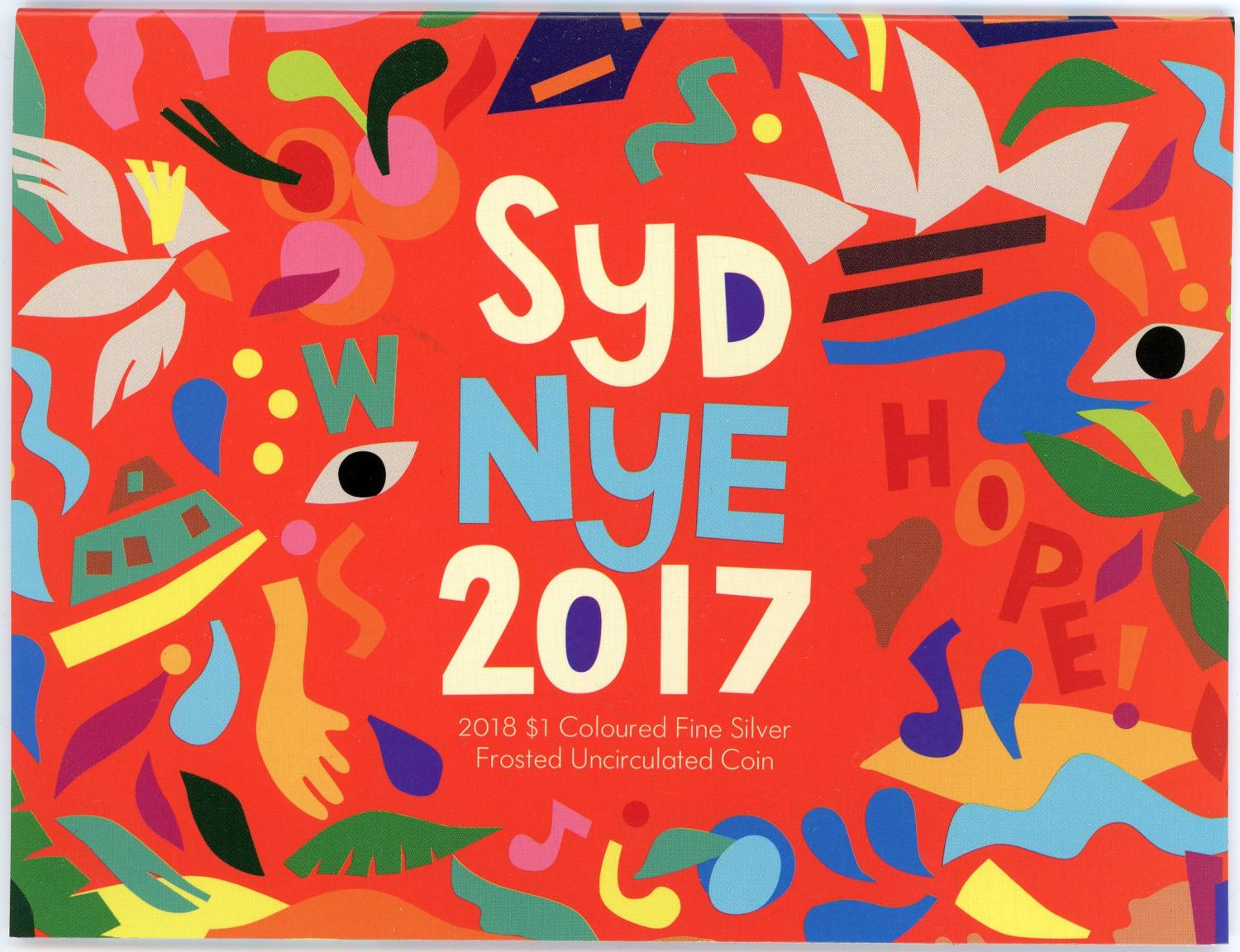 Thumbnail for 2018 Sydney New Years Eve Coloured Fine Silver Coin