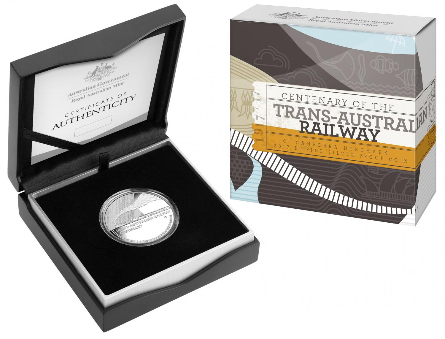 Thumbnail for 2017 $1 Silver Proof - Centenary of the Trans Australian Railway