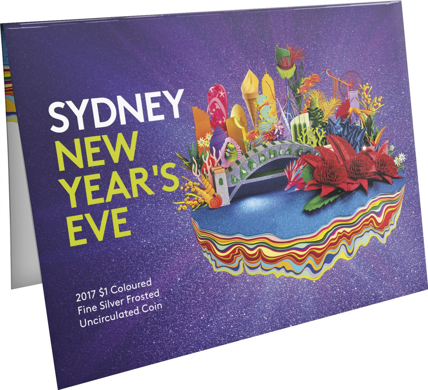 Thumbnail for 2017 Sydney New Years Eve Coloured Fine Silver Coin