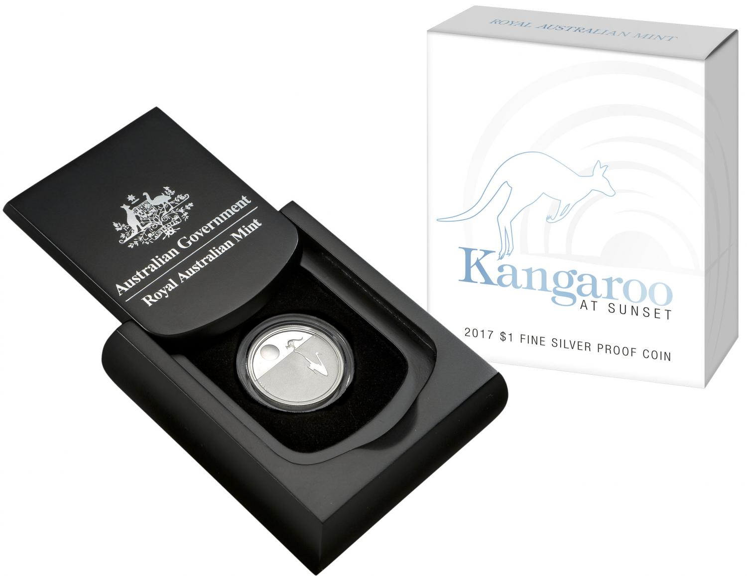 Thumbnail for 2017 Kangaroo at Sunset Fine Silver Proof Coin