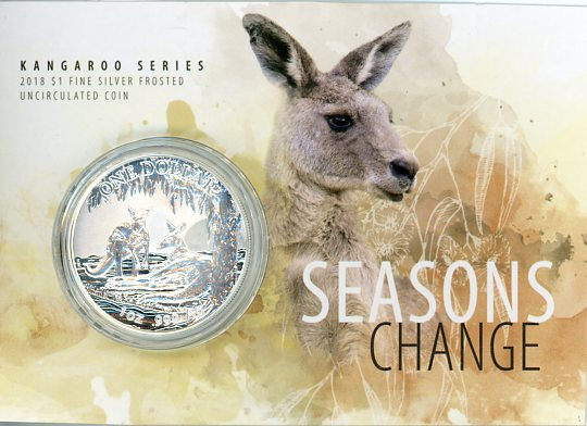 Thumbnail for 2018 1oz One Dollar Silver Kangaroo Series - Seasons Change