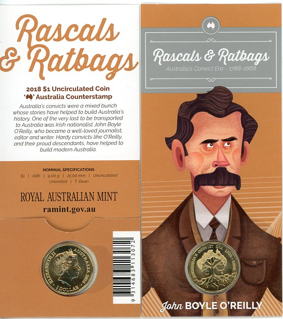 Thumbnail for 2018 Rascals & Ratbags Australia Counterstamp - John Boyle O'Reilly