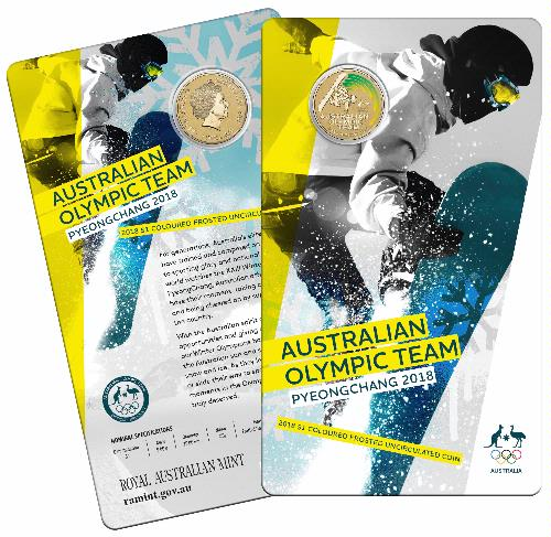 Thumbnail for 2018 Australian Winter Olympic Team Coloured Dollar -  Pyeongchang