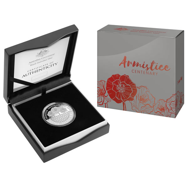 Thumbnail for 2018 1oz One Dollar Silver Proof Coin - Armistice Centenary