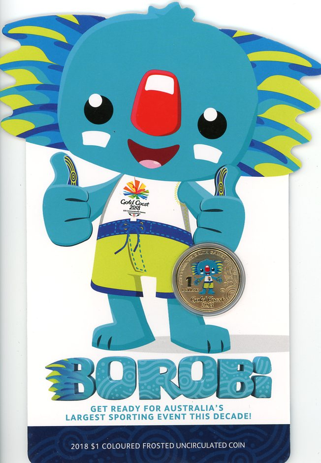 Thumbnail for 2018 Commonwealth Games Coloured Borobi on Card