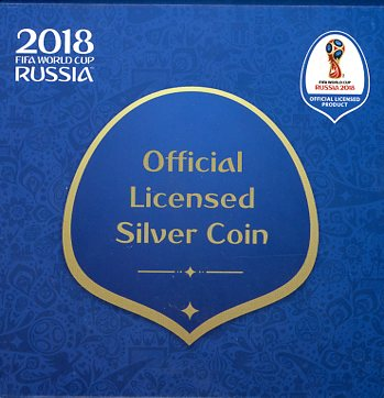 Thumbnail for 2018 $1 Silver Proof Coin - FIFA World Cup Russia