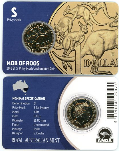 Thumbnail for 2018 UNC Coin Mob of Roos