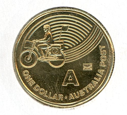Thumbnail for 2019 Alphabet 'A' $1 Coin With Envelope Privy UNC
