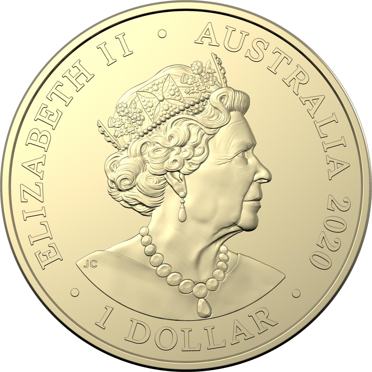 2020 Australian Olympic Team Coloured One Dollar Uncirculated Coin