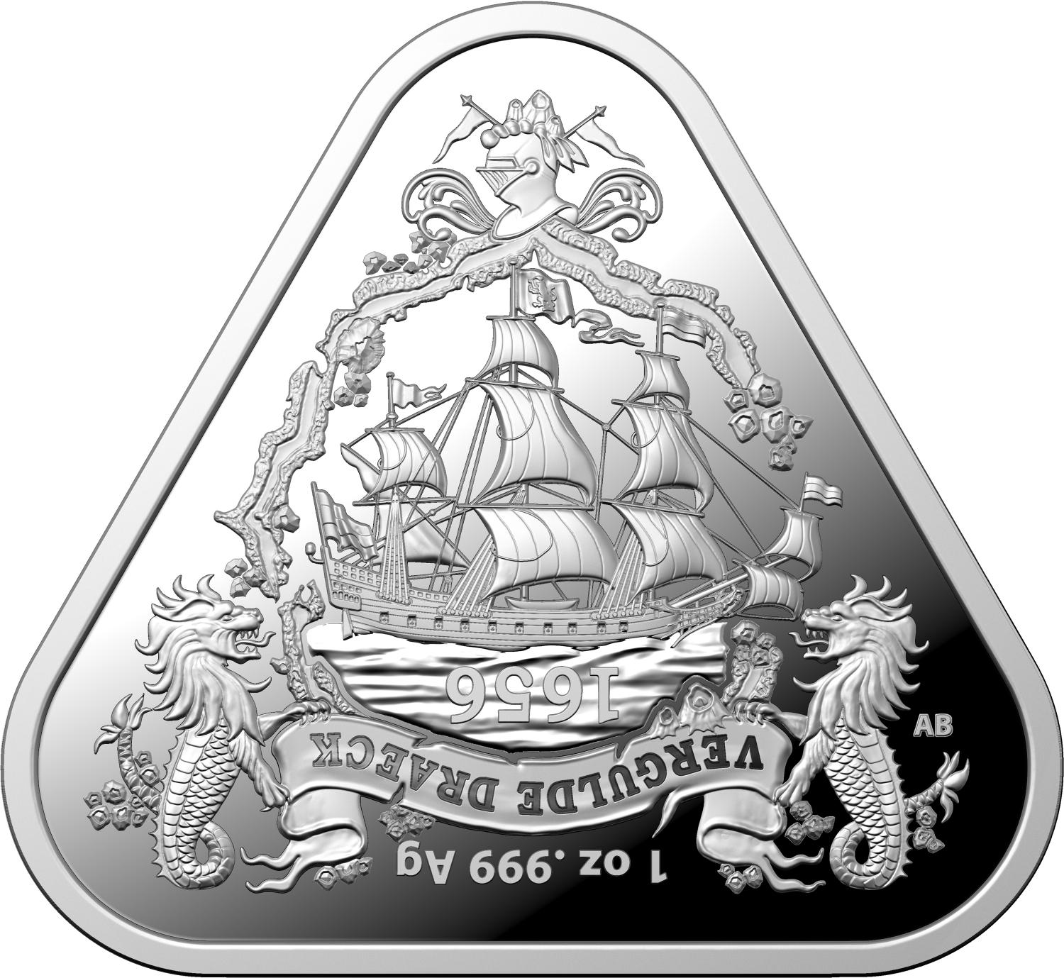 Thumbnail for 2020 One Dollar Silver Triangle Coin in Capsule - Vergulde Draeck
