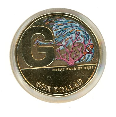 Thumbnail for 2021 $1 Great Aussie coin Hunt 2 - Coloured G Great Barrier Reef Coin