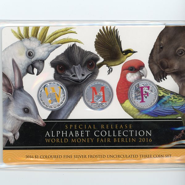 Thumbnail for 2016 Three Coin Set -  Alphabet Collection World Money Fair Berlin