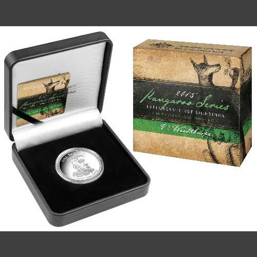 Thumbnail for 2015 1oz Silver Kangaroo Proof Coin - Explorers First Sightings