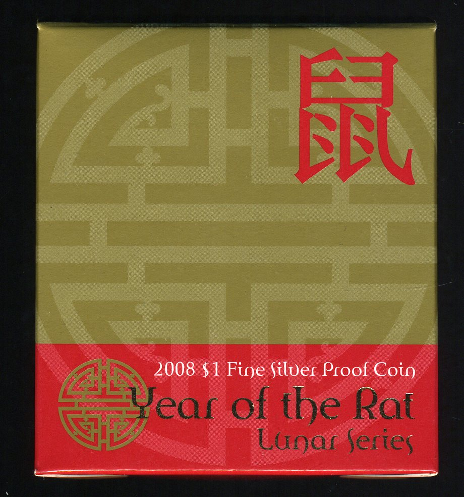 Thumbnail for 2008 Lunar Series - Year of the Rat $1 Silver Proof Coin