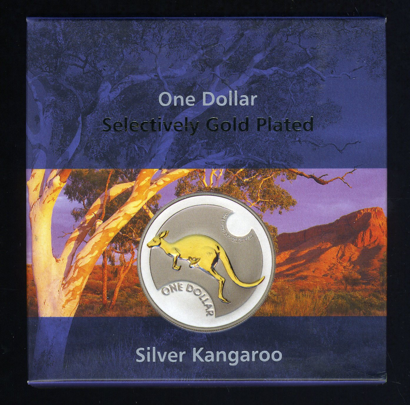 Thumbnail for 2006 Selectively Gold Plated 1oz Silver Kangaroo Proof Coin