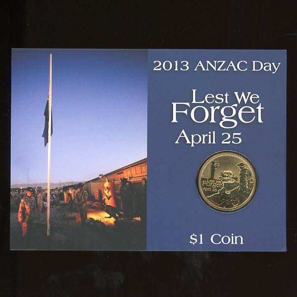 Thumbnail for 2013 Anzac Day Lest We Forget One Dollar Coin