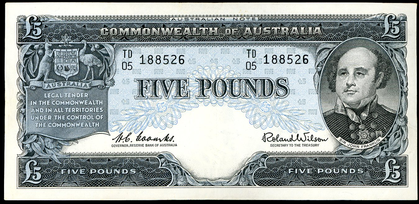 Thumbnail for 1961 Five Pound Note Coombs - Wilson TD05 188526 VF