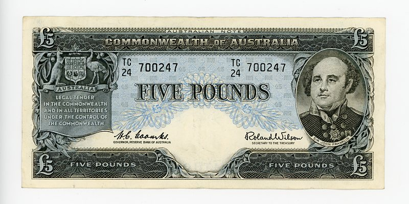 Thumbnail for 1961 Five Pound Banknote TC24 700247 VF