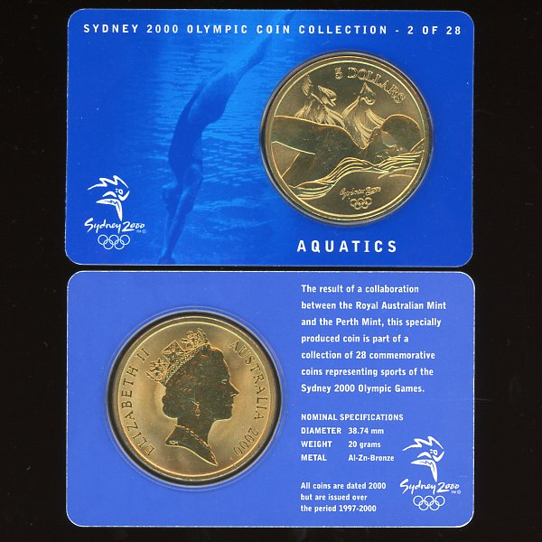 Thumbnail for 2000 Sydney Olympics Aquatics $5 Coin UNC