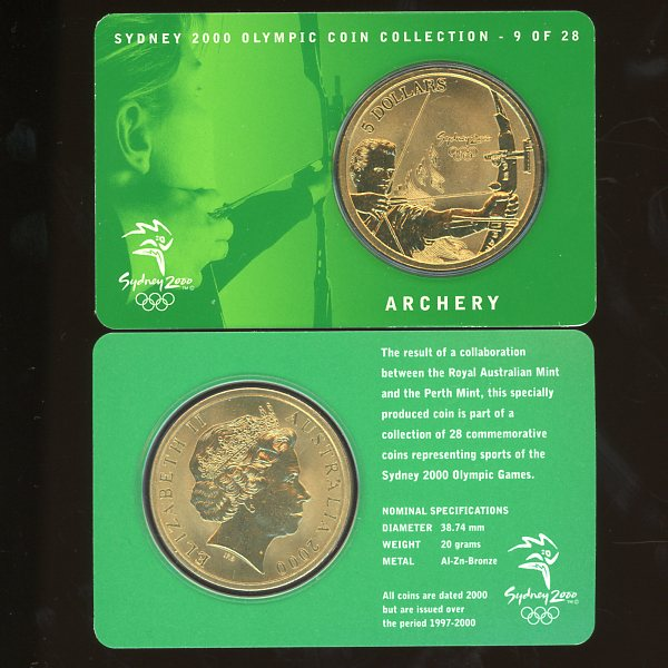 Thumbnail for 2000 Sydney Olympics Archery $5 Coin Uncirculated