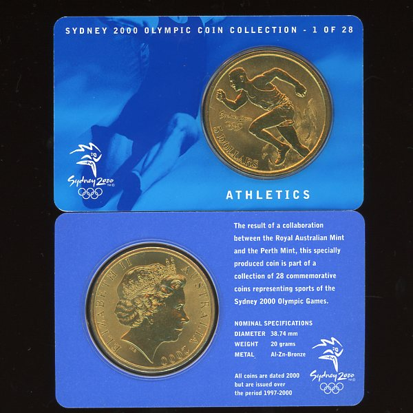 Thumbnail for 2000 Sydney Olympics Athletics $5 Coin UNC