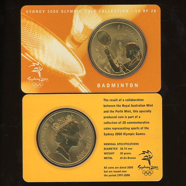 Thumbnail for 2000 Sydney Olympics Badminton $5 Coin Uncirculated