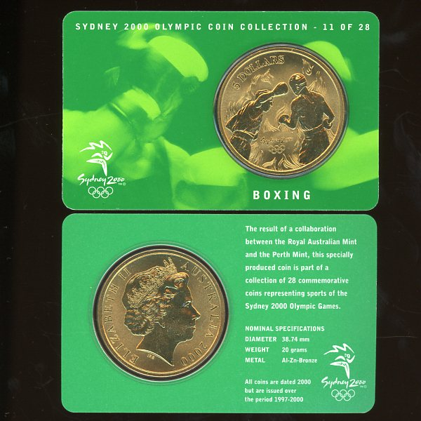 Thumbnail for 2000 Sydney Olympics Boxing $5 Coin Uncirculated