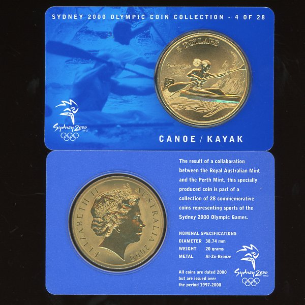 Thumbnail for 2000 Sydney Olympics Canoe-Kayak $5 Coin  UNC